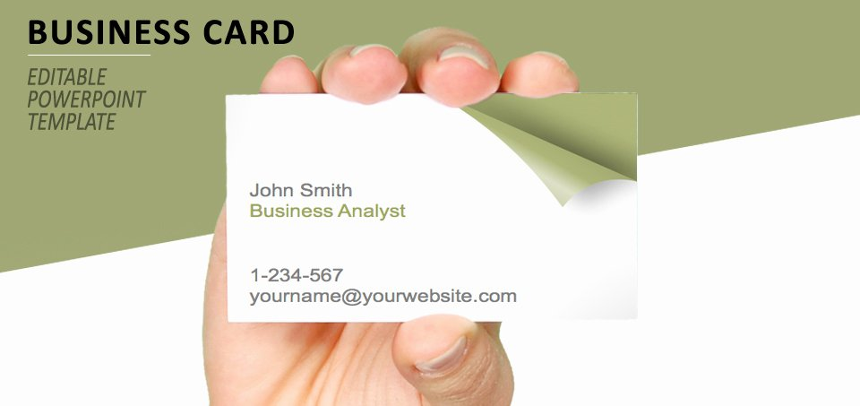 Business Card Sheet Template New Turn the Page Business Card Template for Powerpoint