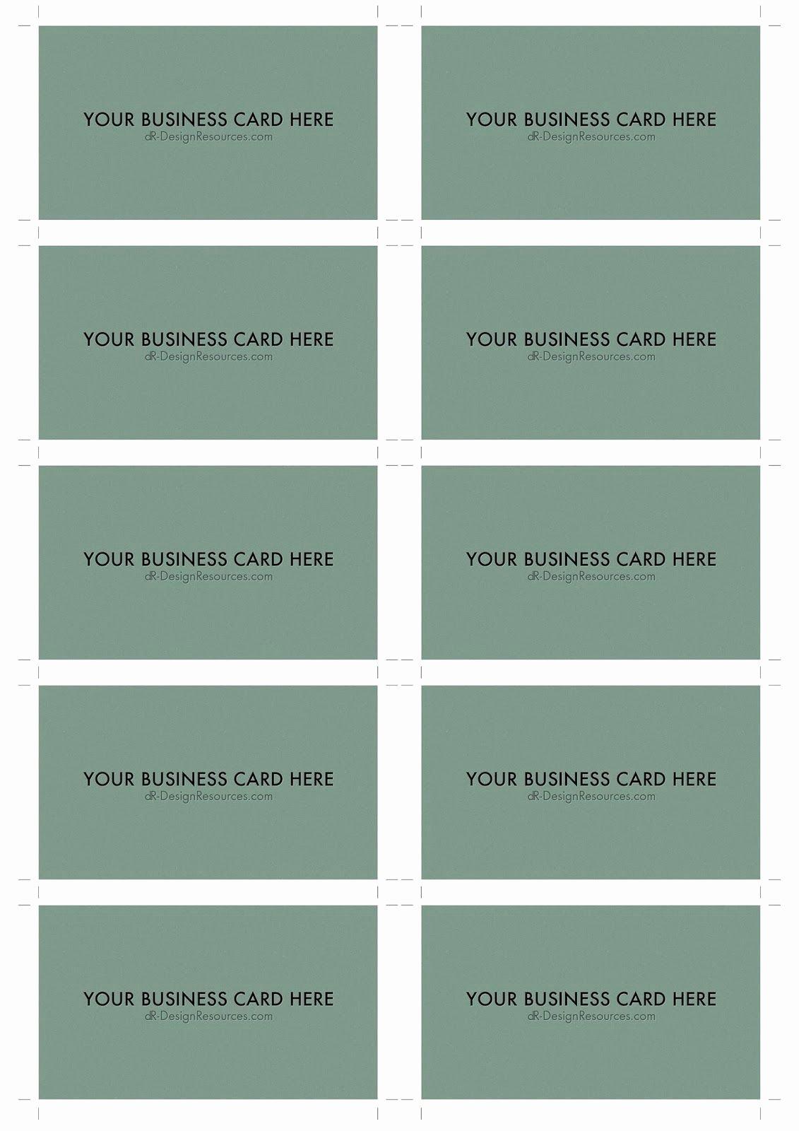 Business Card Sheet Template Unique 10 Business Card Template – Free Sample Business Card