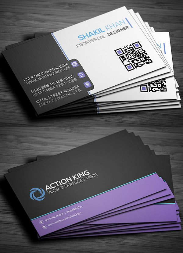 Business Card Template Free Printable Inspirational Free Business Cards Psd Templates Print Ready Design