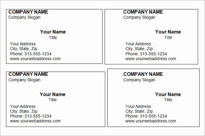 Business Card Template Free Printable Luxury 44 Free Blank Business Card Templates Ai Word Psd