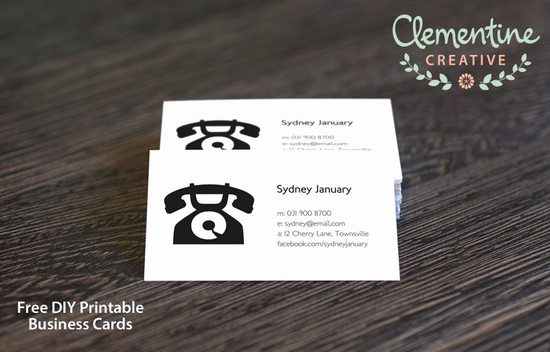 Business Card Template Printable Beautiful Free Diy Printable Business Card Template