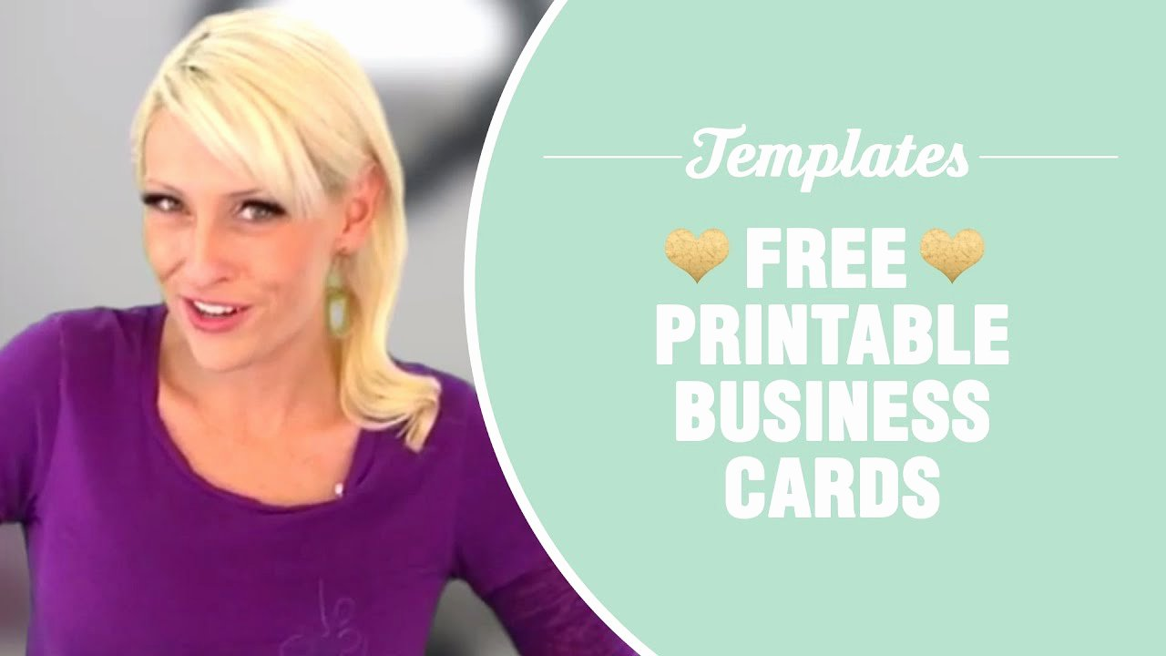Business Card Template Printable Beautiful Free Printable Business Cards Templates Included