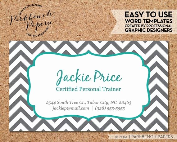 Business Card Template Printable Beautiful Items Similar to Business Card Template Gray Chevron