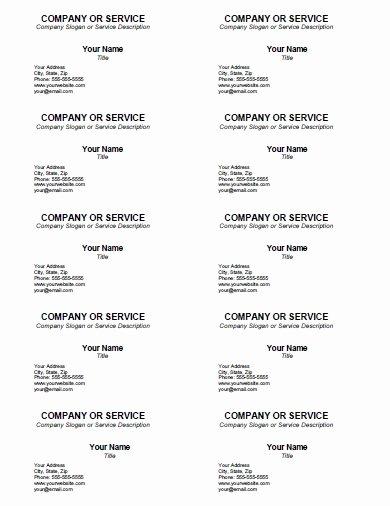 Business Card Template Printable Elegant Blank Business Card Template Free Printable