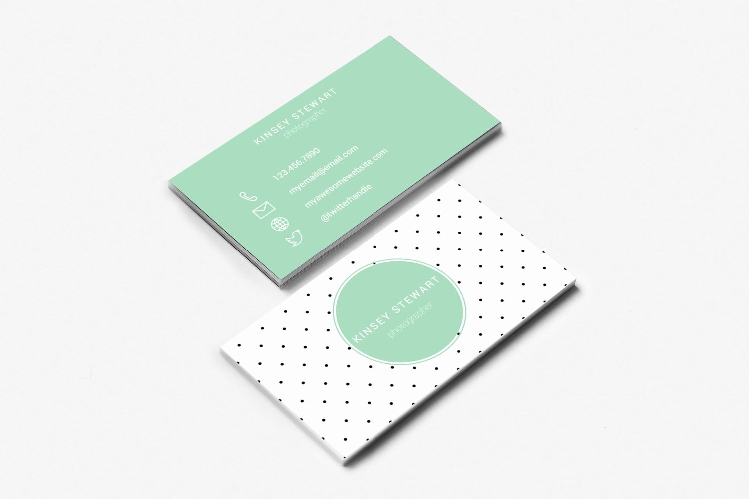 Business Card Template Printable Inspirational Editable & Printable Business Card Template Dots Feminine