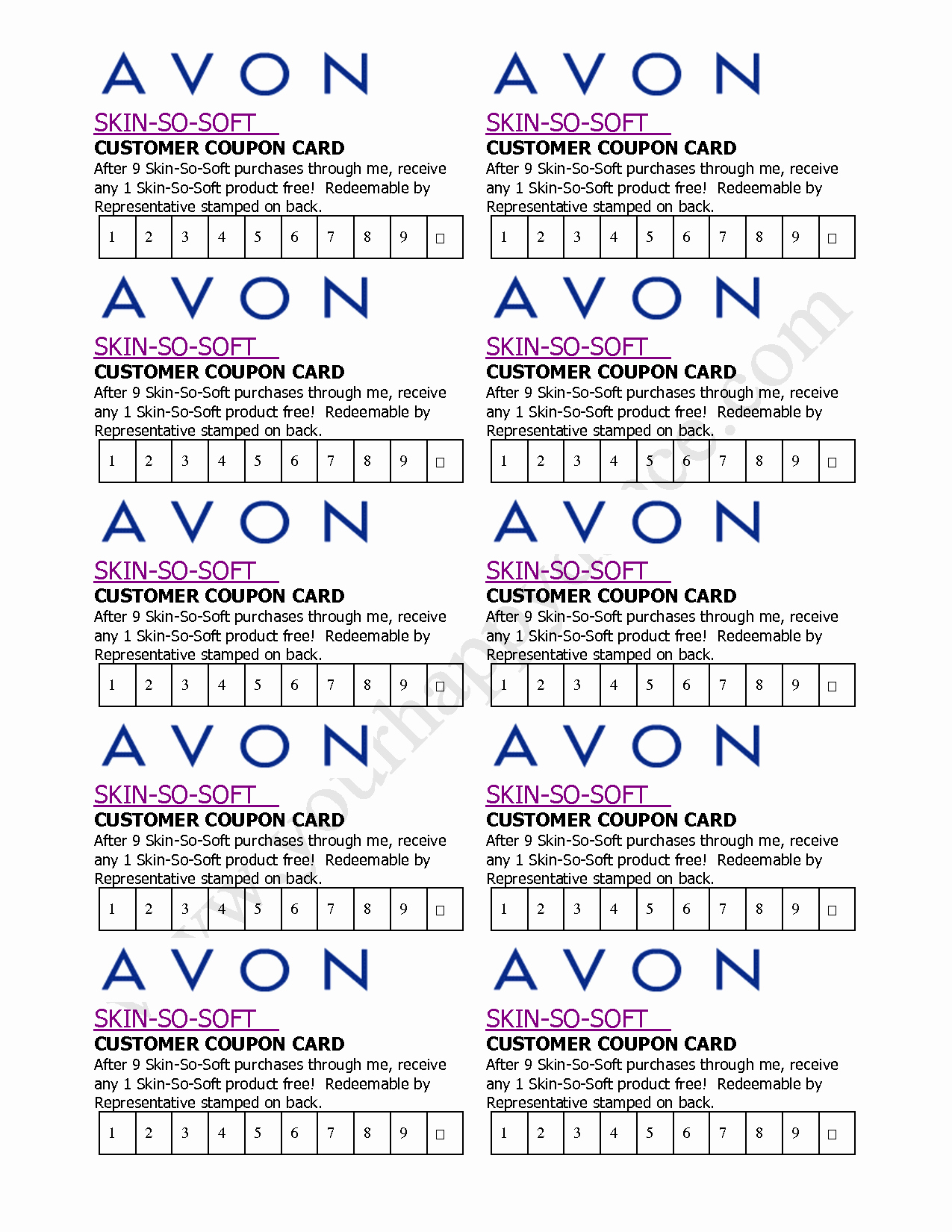 Business Card Template Printable Luxury Avon Business Card Template Free Printable Avon Business