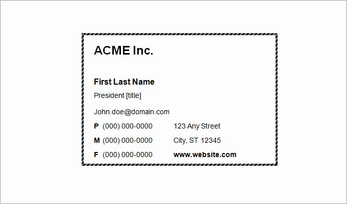 Business Card Template Printable Unique 44 Free Blank Business Card Templates Ai Word Psd