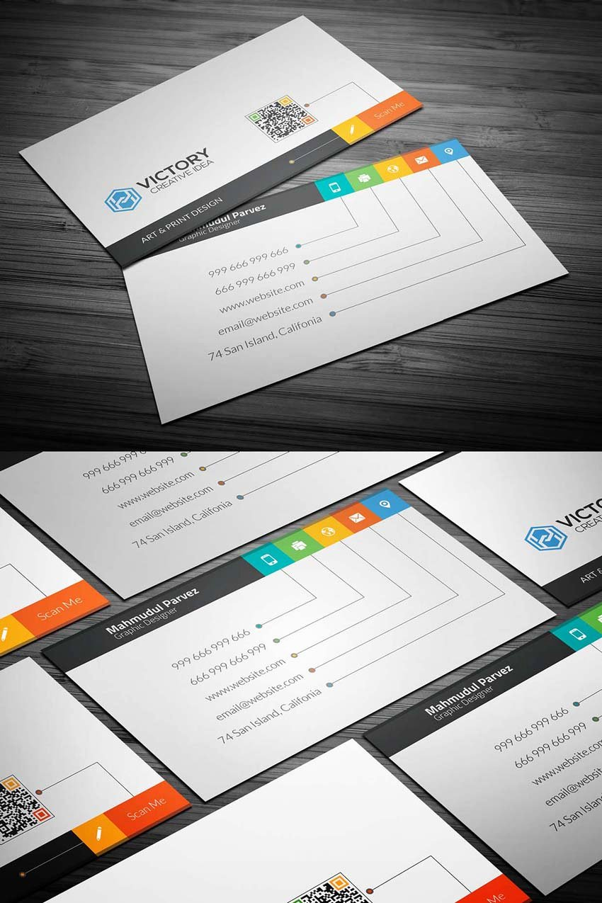 Business Card with Photo Template Awesome 20 Free Printable Templates for Business Cards