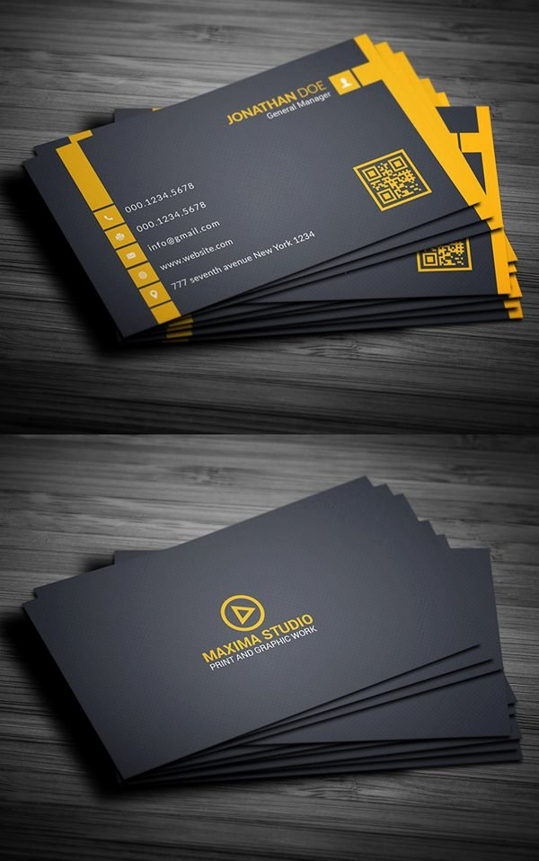 Business Card with Photo Template Awesome Free Business Card Templates