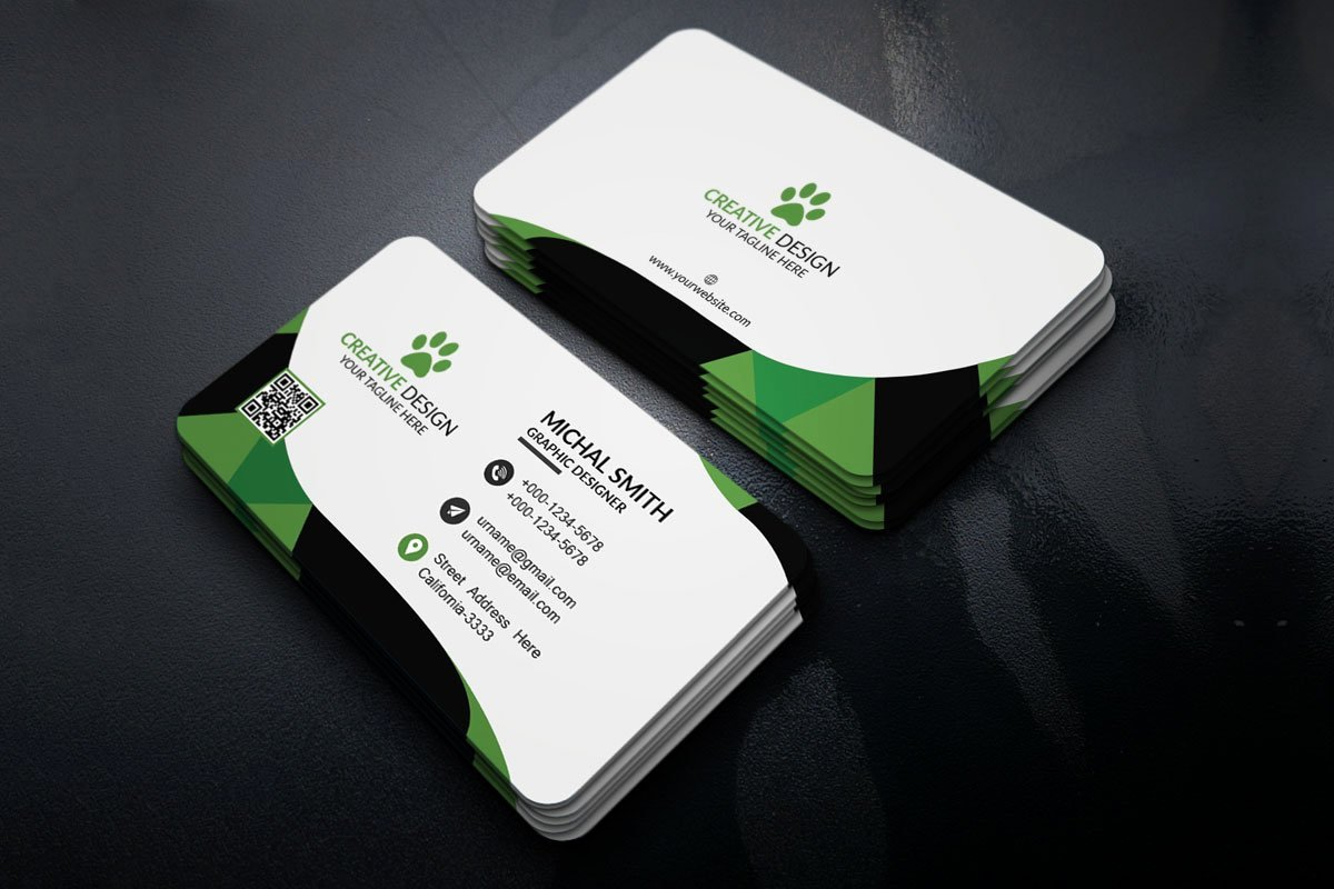 Business Card with Photo Template Awesome Free Corporate Business Card Template Creativetacos