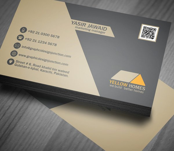 Business Card with Photo Template Awesome Free Real Estate Business Card Template Psd