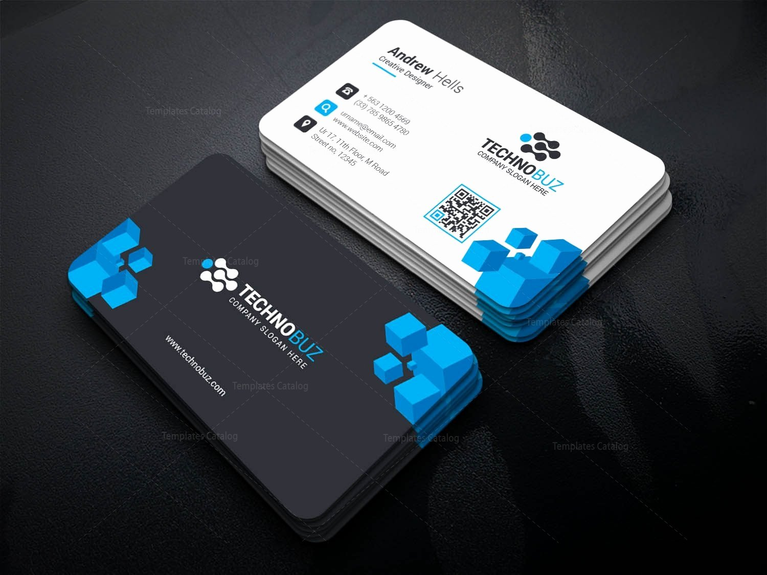 Business Card with Photo Template Awesome Oceanus Creative Corporate Business Card Template