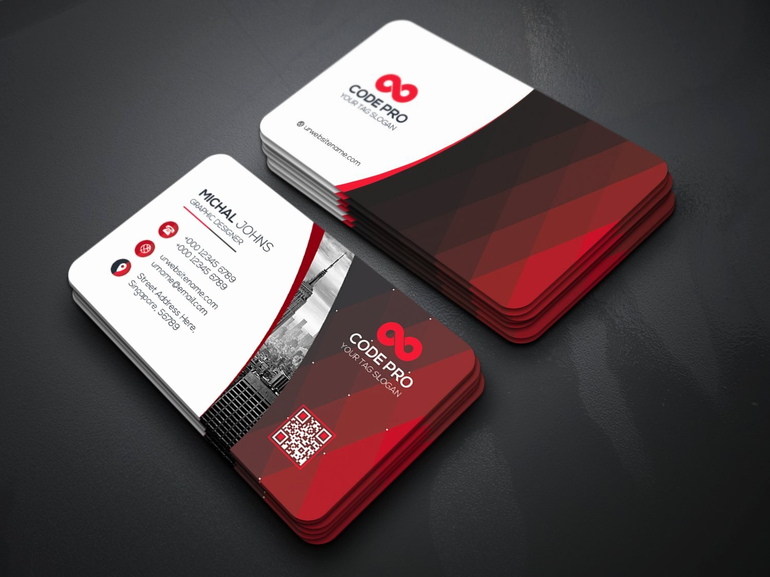 Business Card with Photo Template Awesome Simple Professional Business Cards Business Card