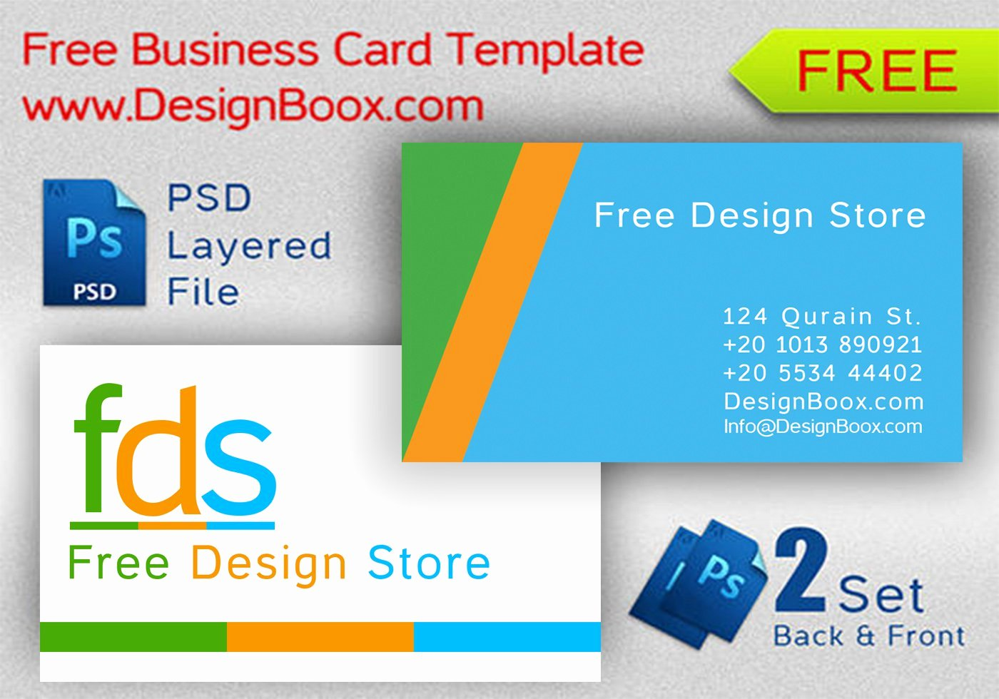 Business Card with Photo Template Elegant Business Card Template