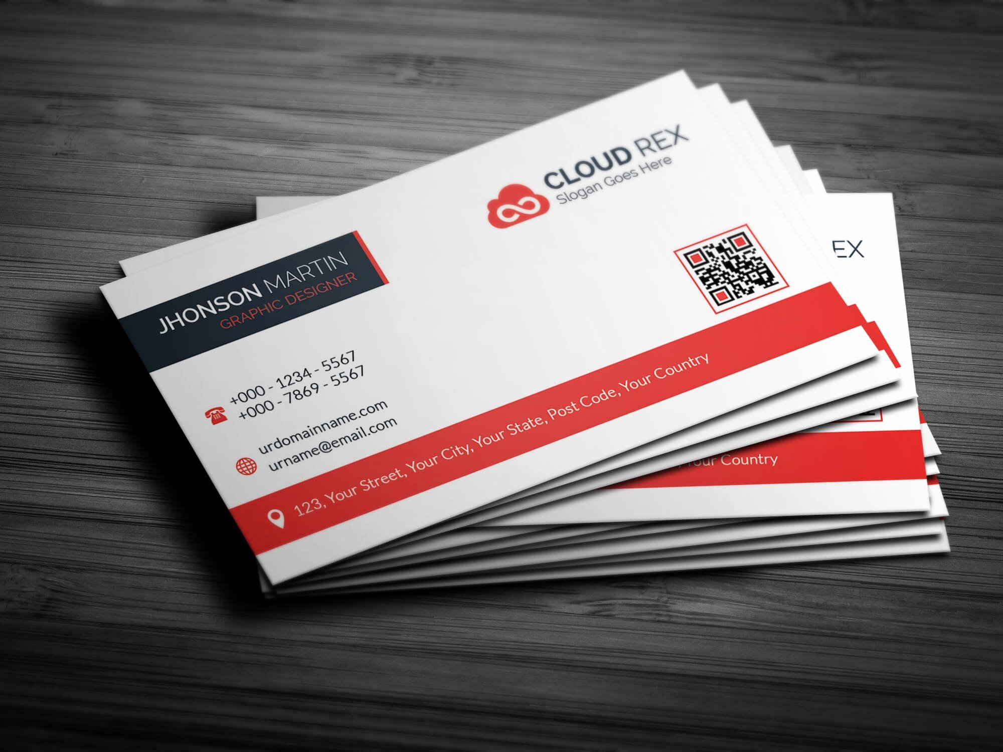 Business Card with Photo Template Elegant Creative Business Card Template Business Card Templates