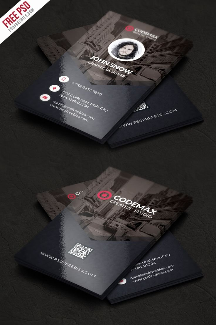 Business Card with Photo Template Elegant Modern Business Card Free Psd Template Pinterest