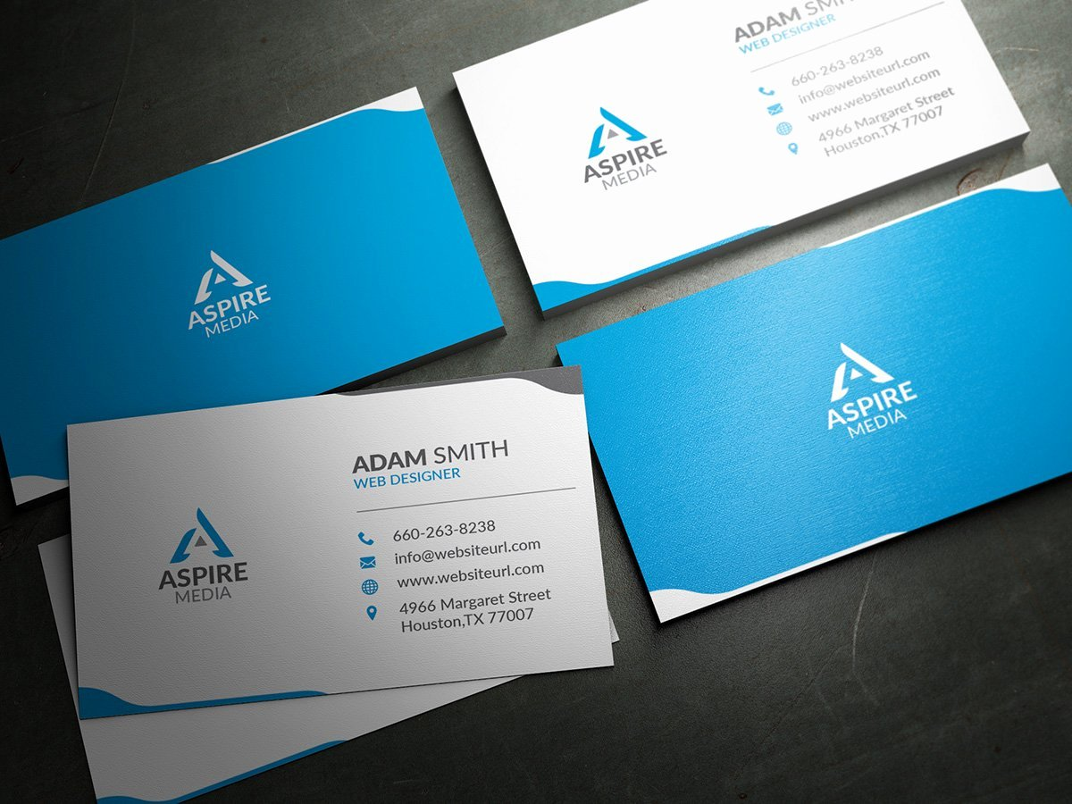 Business Card with Photo Template Fresh Simple Clean Business Card Template Business Card