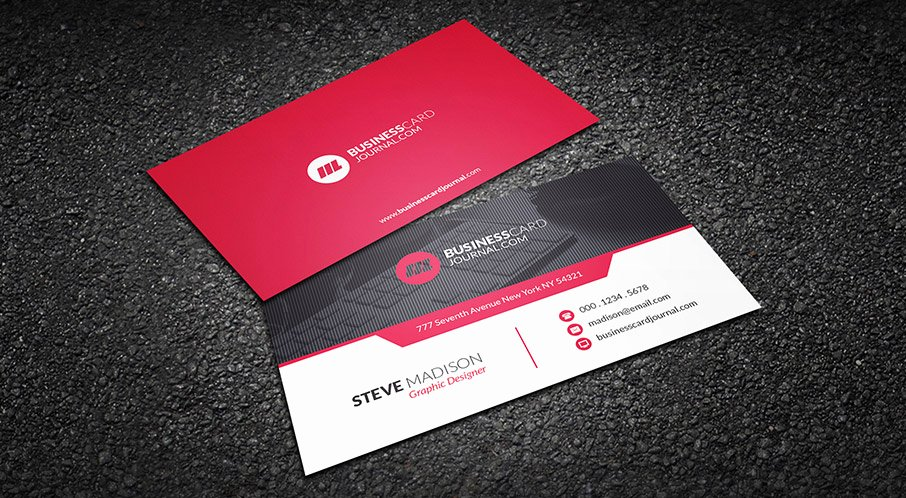 Business Card with Photo Template Inspirational Free Red Hot Contemporary Business Card Template