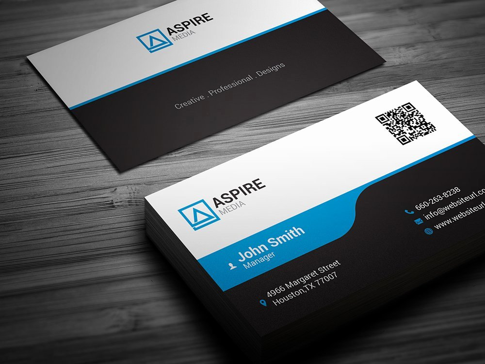 Business Card with Photo Template Inspirational Modern Business Card Template Business Card Templates