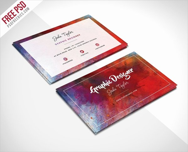 Business Card with Photo Template Lovely 33 Artist Business Cards Free Psd Ai Vector Eps