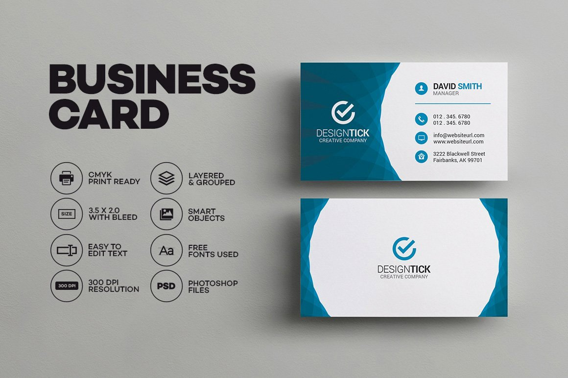 Business Card with Photo Template Luxury Modern Business Card Template Business Card Templates