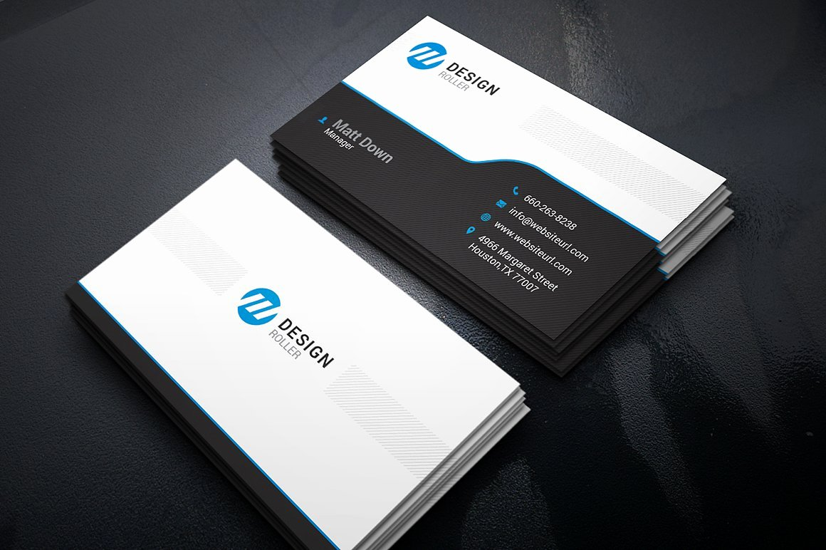Business Card with Photo Template Luxury Simple Business Card Template Business Card Templates