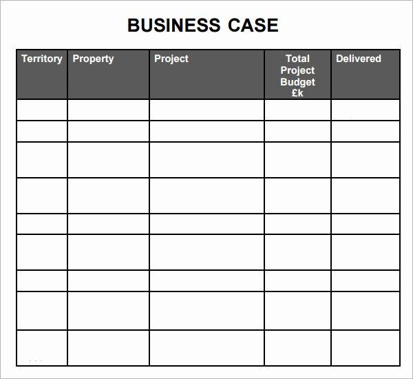 Business Case Template Excel Elegant 7 Business Case Samples