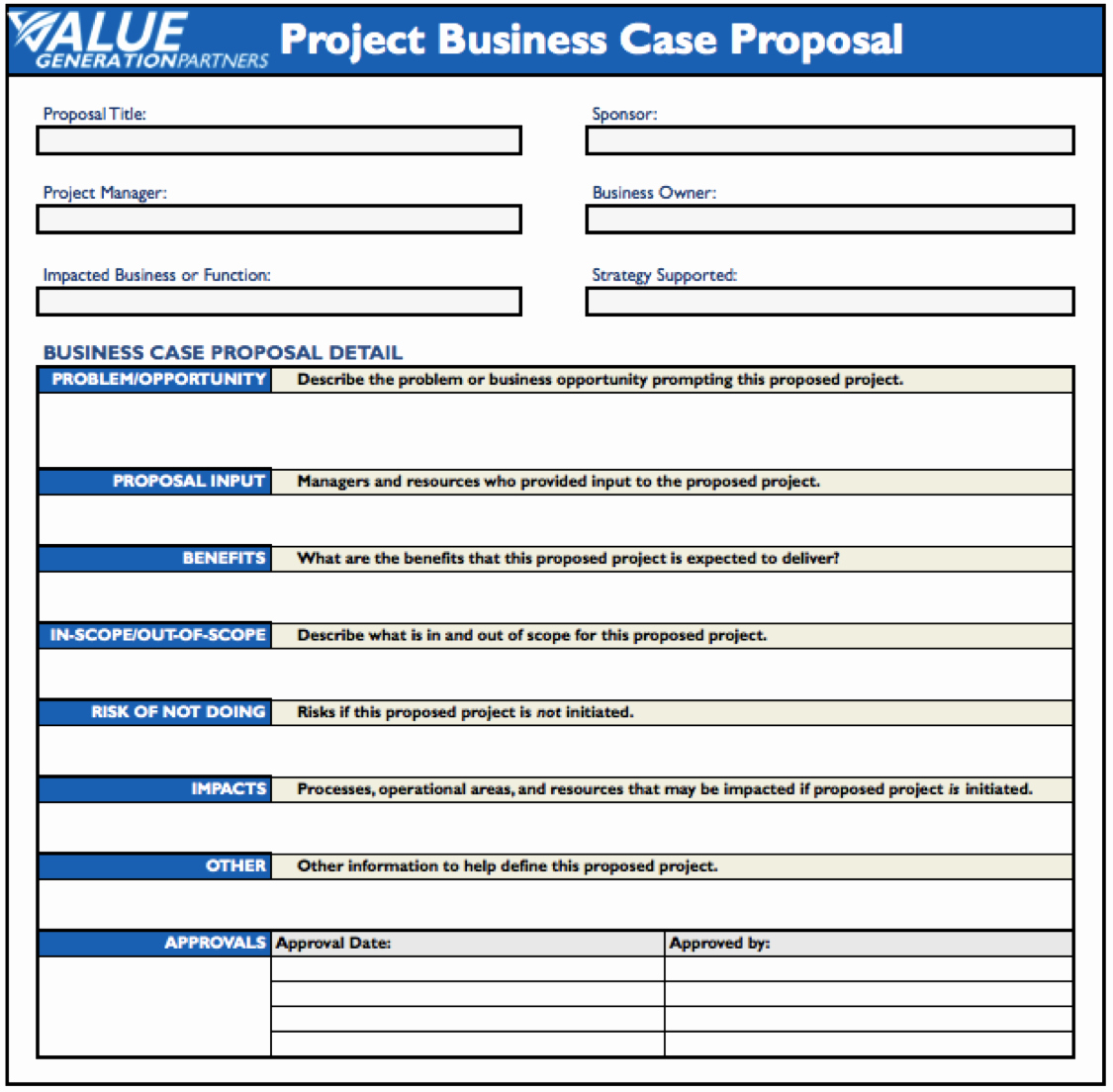 Business Case Template Excel Fresh Business Case Template