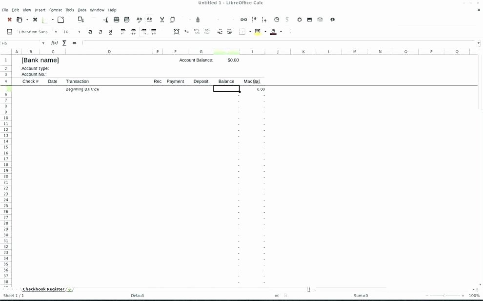 Business Check Register Template Awesome Free Printable Blank Check Register Template Download by