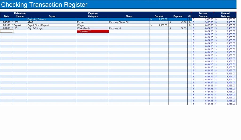 Business Check Register Template Best Of How to Create A Checkbook Register In Excel