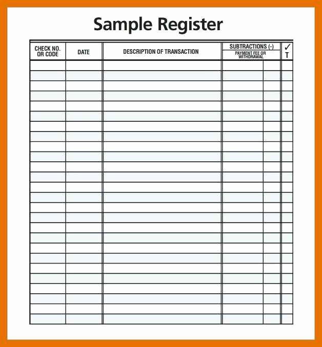 Business Check Register Template Unique 4 5 Check Register Pdf