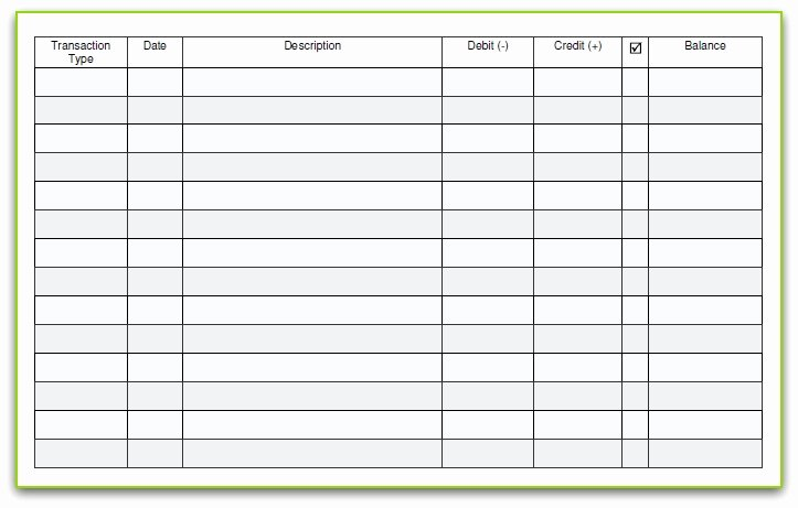 Business Check Template Excel Best Of 6 Free Blank Business Checkbook Register Template Excel