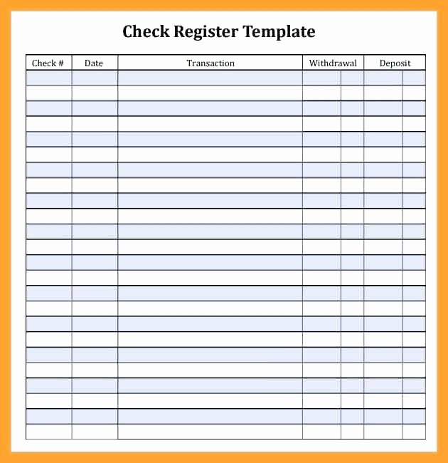 Business Check Template Excel Inspirational Excel Checkbook Register Template software Windows 7 Free