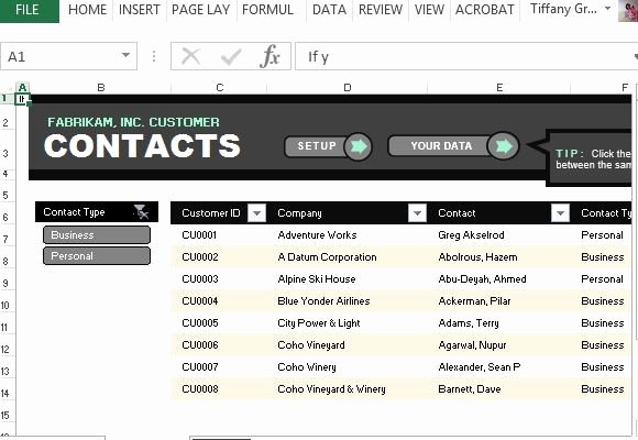 Business Contact List Template Best Of Customer Contact List Template for Excel