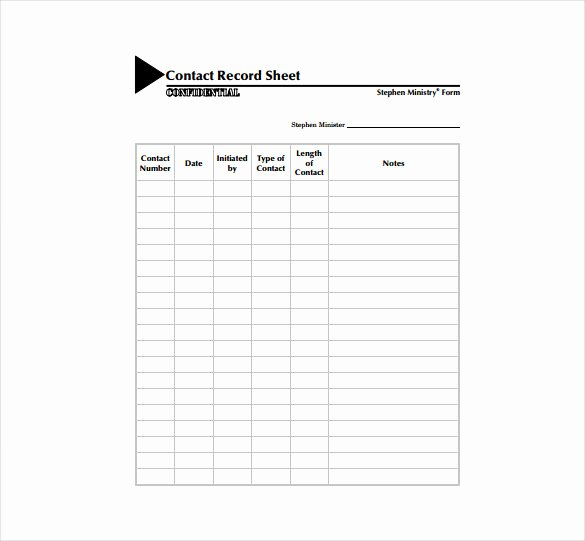 Business Contact List Template Luxury Contact Sheet Template 16 Free Excel Documents Download