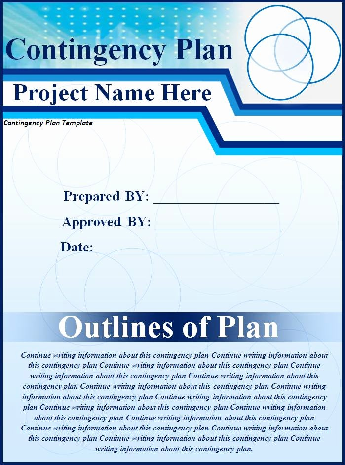Business Contingency Plan Template Awesome Contingency Plan Template