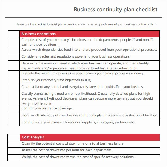 Business Contingency Plan Template Beautiful 12 Sample Business Continuity Plan Templates
