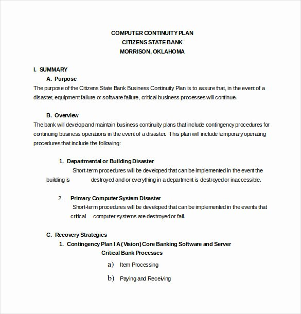 Business Contingency Plan Template Beautiful 13 Contingency Plan Templates – Free Sample Example