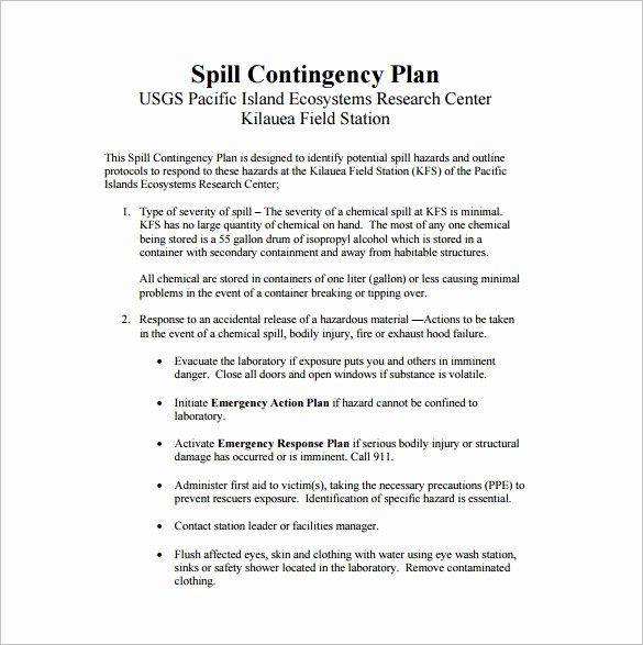 Business Contingency Plan Template Best Of 13 Contingency Plan Templates – Free Sample Example