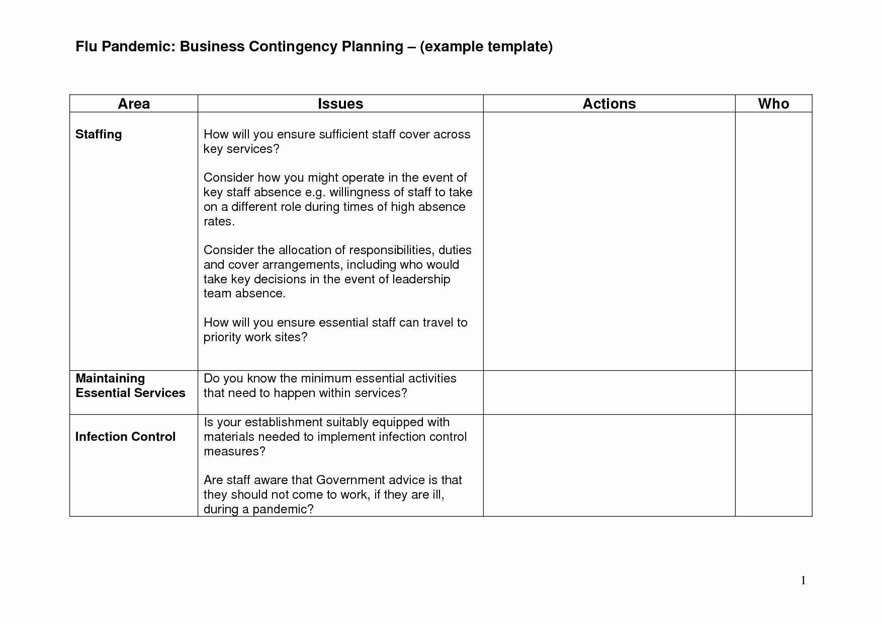 Business Contingency Plan Template Fresh 20 Example Business Continuity Plan Template Valid 30 New
