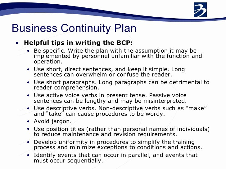 Business Contingency Plan Template Fresh Bcp Business Continuity Plan Pdf