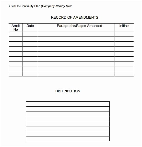 Business Contingency Plan Template Inspirational 7 Free Business Continuity Plan Templates Excel Pdf formats