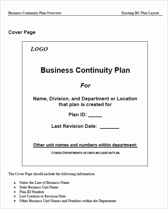 Business Contingency Plan Template Lovely 7 Free Business Continuity Plan Templates Excel Pdf formats