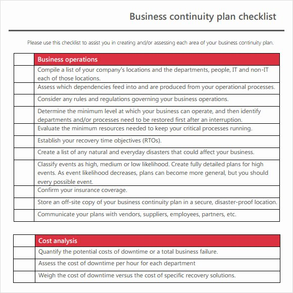 Business Contingency Plan Template Lovely Business Continuity Plan Template for Food Manufacturing