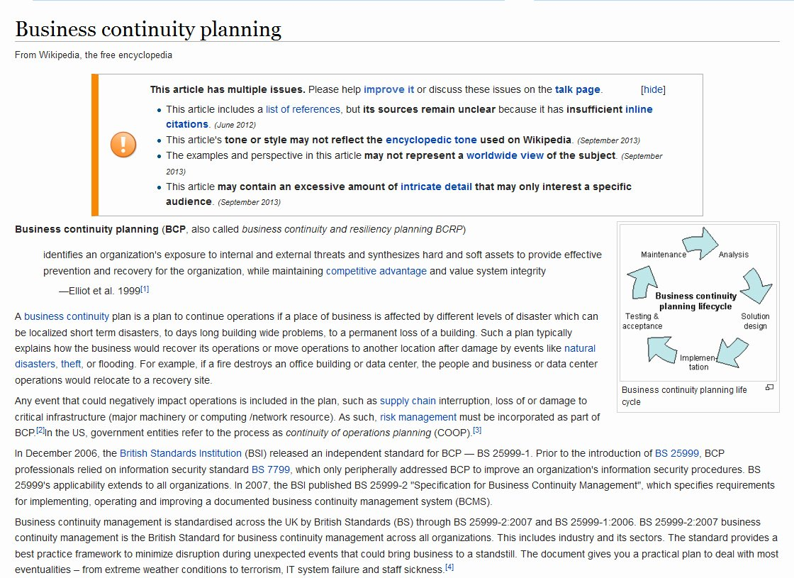 Business Contingency Plan Template Lovely Business Continuity Planning