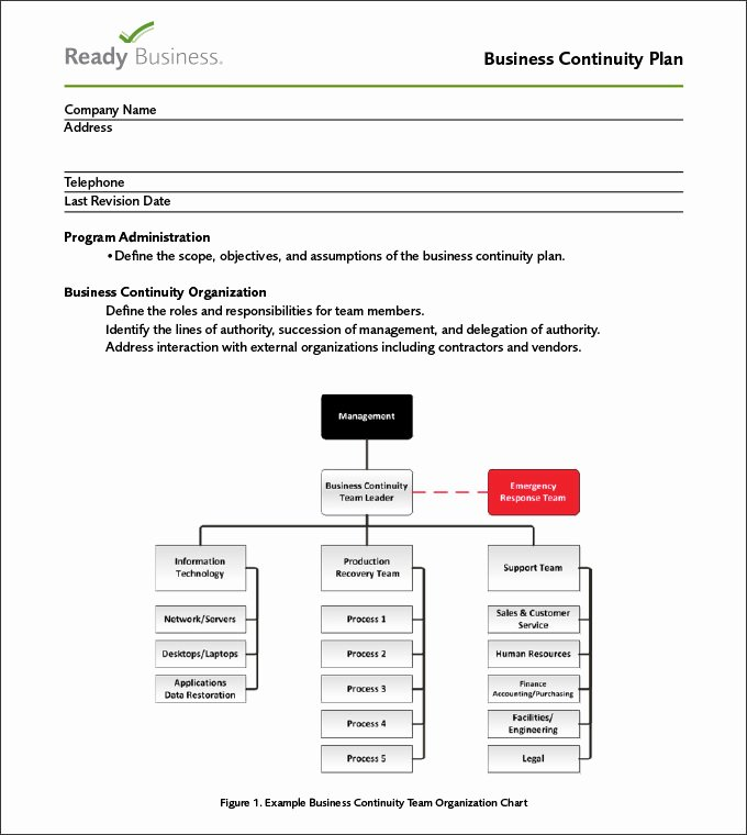 Business Contingency Plan Template Unique Business Continuity Plan Template 9 Free Word Pdf