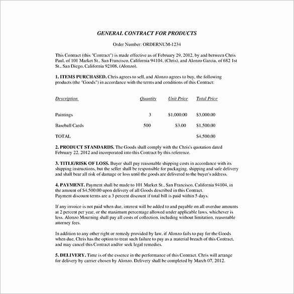 Business Contract Template Free Awesome 23 Business Contract Templates – Pages Docs