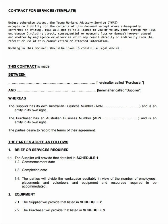 Business Contract Template Free Elegant Service Contract Template 8 Free Word Pdf Documents
