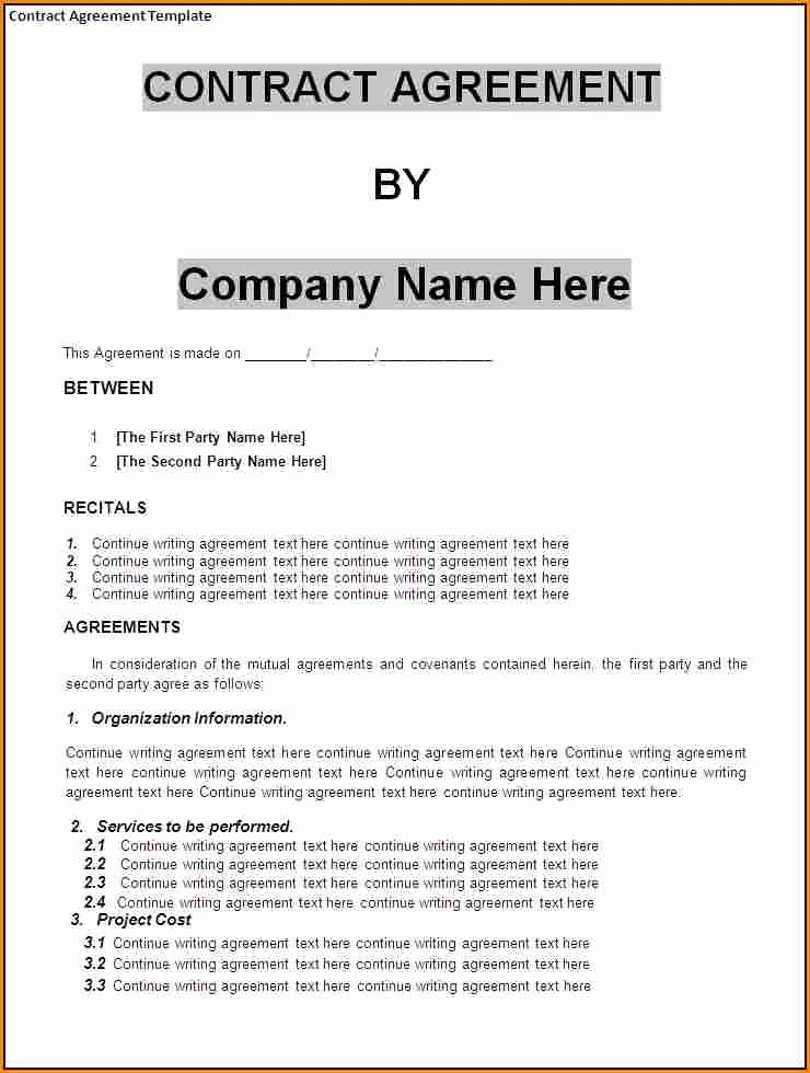 Business Contract Template Free Inspirational Small Business Agreement Template Adktrigirl