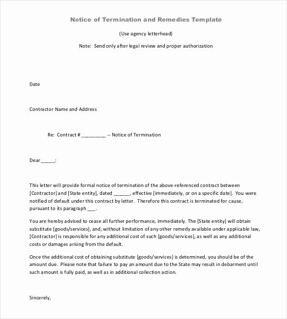 Business Contract Termination Letter Template Best Of 22 Contract Termination Letter Templates Pdf Doc